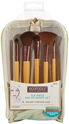 EcoTools 6 Piece Day To Night Cruelty Free Clutch Set; Pointed Concealer Brush