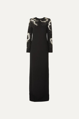 Givenchy Embellished Wool-crepe Gown - Black