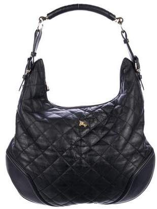 Burberry Quilted Hobo Bag