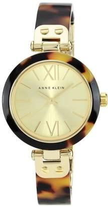 Anne Klein Ladies Goldtone Tortoise Plastic Bezel Watch