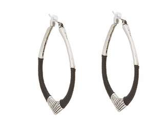 The Sak String Forward Third Arabesque Hoop Earring