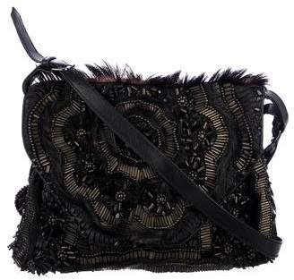 Antik Batik Beaded Leather & Ponyhair Shoulder Bag