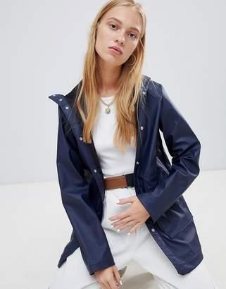 Herschel classic hooded waterproof jacket in navy