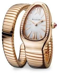 Bvlgari Serpenti Rose Gold& Diamond Twist Watch