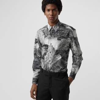 Burberry Dreamscape Print Cotton Silk Shirt