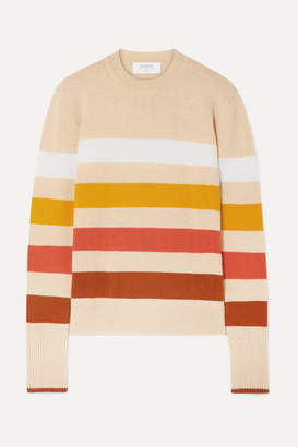 La Ligne Aaa Candy Striped Wool And Cashmere-blend Sweater - Cream