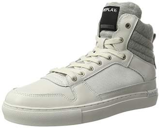 Replay Men's Moon Hi-Top Slippers White Size: 10