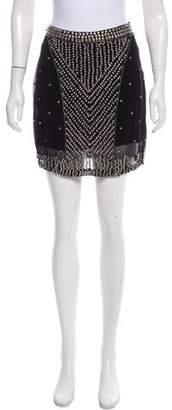 Hoss Intropia Embellished Mini Skirt