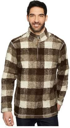 True Grit Melange Buffalo Plaid 1/4 Zip Pullover Men's Clothing