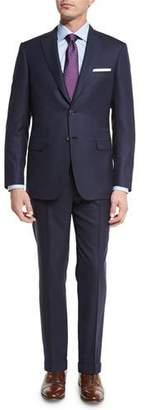 Brioni Tonal-Stripe Super 160s Wool Two-Piece Suit, Navy