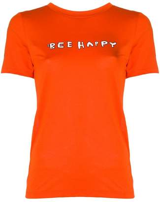 Ganni bee happy print T-shirt