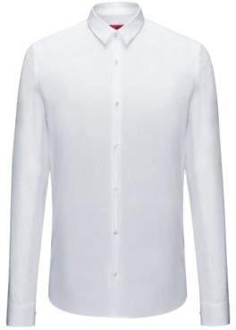 HUGO Boss Cotton Button Down Shirt, Extra Slim Fit Ero L Open White
