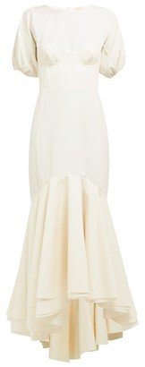 Brock Collection Odliguard Cotton Faille Gown - Womens - White