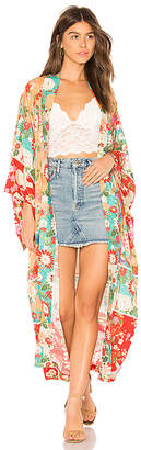 Spell & The Gypsy Collective Delilah Patchwork Maxi Kimono