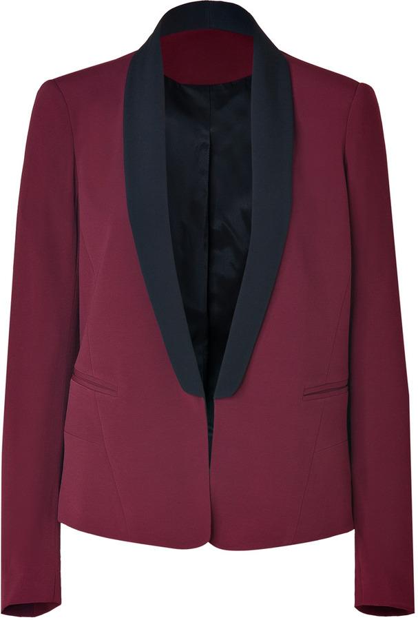 Sandro Ruby/Black Tuxedo Jacket