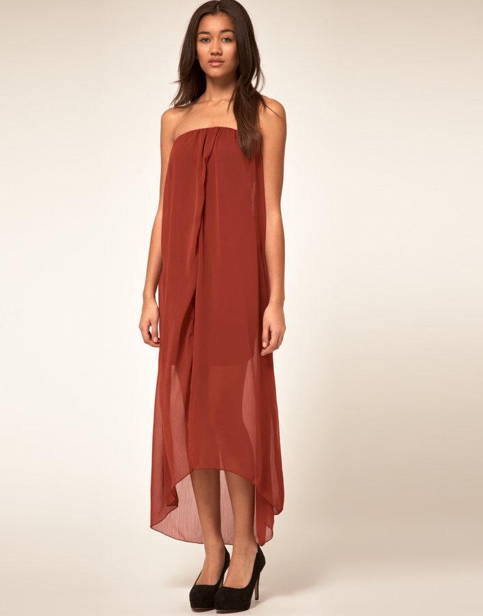 Vila Dipped Hem Dress
