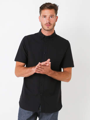 Denham Jeans Rhys Co Short Sleeve Shirt in Black