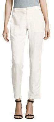 Leo & Sage Solid Straight-Leg Ankle Pants