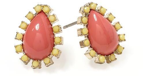 Pim + Larkin Pear Cabochon Stud Earring