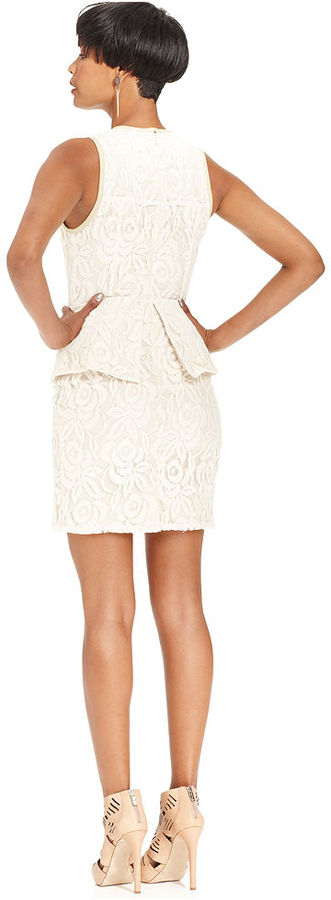 Miss Me Dress, Sleeveless Lace Peplum