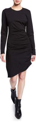 Veronica Beard Jaelyn Ruched Long-Sleeve Asymmetric Dress