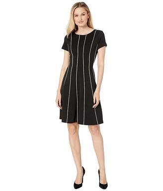 Adrianna Papell Daphne Ottoman Fit Flare Dress