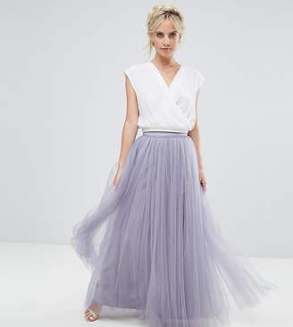 Little Mistress Petite Maxi Tulle Prom Skirt