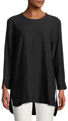 Eileen Fisher Washable Crepe Bracelet Tunic, Plus Size