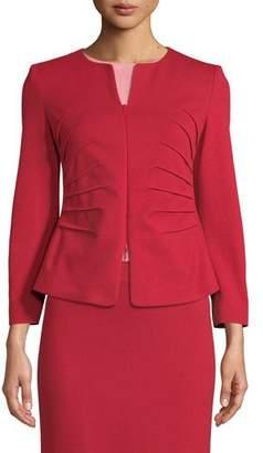Emporio Armani Kate Sunburst Zip-Front Jersey Jacket