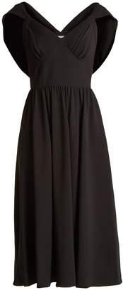 Prada Cowl-back crepe dress