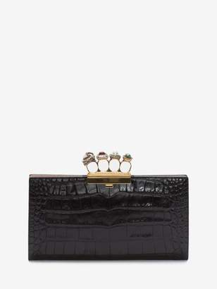 Alexander McQueen Jeweled Four Ring Pouch