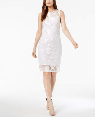 Calvin Klein Embroidered Mesh Dress