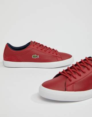 Lacoste Lerond 318 3 sneakers in red leather