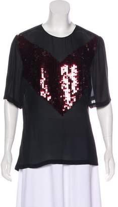 Jason Wu Silk Embellished Top