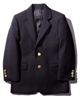 Lord & Taylor Boy's Gold-Button Wool-Blend Navy Blazer