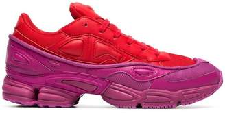 Adidas By Raf Simons red and pink Ozweego leather sneakers