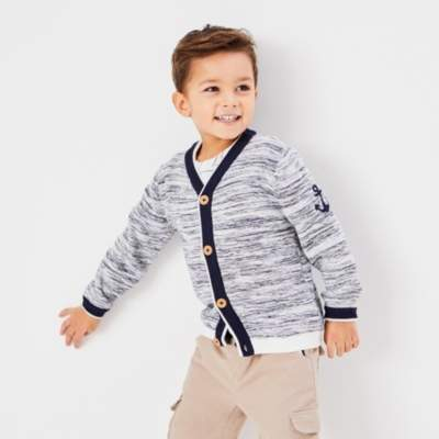 Anchor Embroidered Cardigan (1-6yrs)