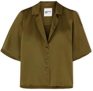 Orseund Iris - Le Funk Silk-satin Shirt - Green
