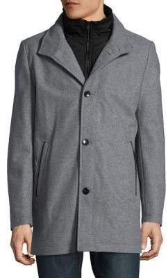 Vince Camuto Wool Blend Three-Button Coat