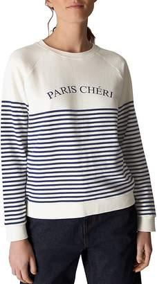 Whistles Breton Stripe Sweatshirt