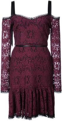 Alexis lace mini dress with tie straps