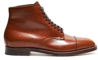 Alden Straight Tip Boot in Burnished Tan Calfskin