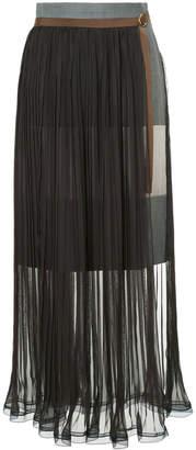 Kolor pleated belted skirt