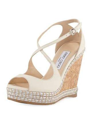 Jimmy Choo Dakota Wedge Espadrille Sandals, Off White