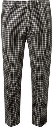 Ami Tapered Houndstooth Virgin Wool And Cotton-Blend Trousers