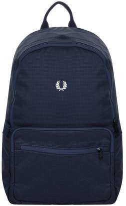 Fred Perry Saffiano Rucksack Bag Navy