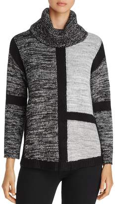 Heather B Tonal Color-Block Sweater