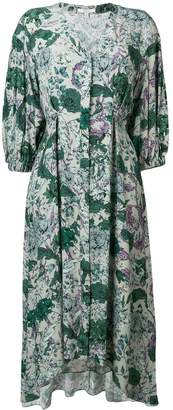 Dagmar floral flared midi dress