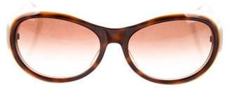 Judith Leiber Gradient Oval Sunglasses