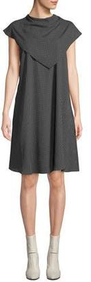 Fame & Partners The Thanh Popover Cap-Sleeve Dress